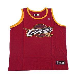 Camiseta Regata New Era Basic Logo Cleveland Cavaliers Vinho