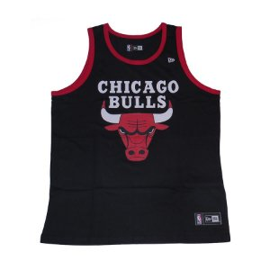 Camiseta Regata New Era Basic Logo Chicago Bulls - PRETO