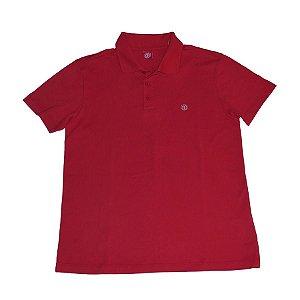 Camiseta Polo Logo Element Vermelho