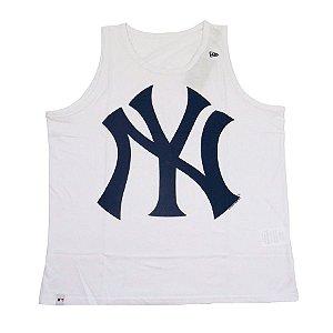 Camiseta Regata New Era New York Yankees MLB Branco Marinho bae581de45a