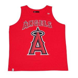Camiseta Regata New Era MLB Los Angeles Angels Vermelha