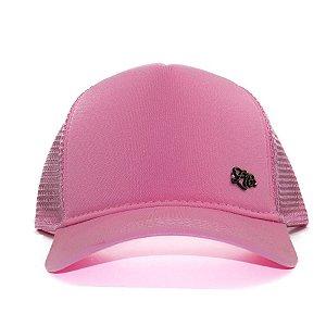 Boné  Zero18 Snapback Aba Curva Trucker Pink