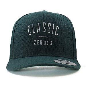Boné Zero18 Snapback Aba Curva Classic Verde Flexfit