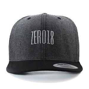 Boné  Zero18 Snapback Aba Curva Classic Chumbo Flexfit