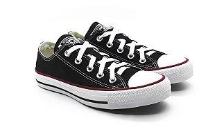 285594d4571 Tênis Converse Chuck Taylor All Star Ox Preto Couro - Crispim Store ...
