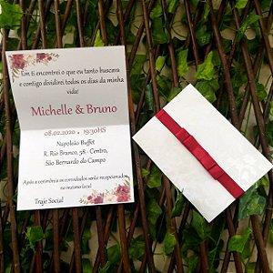 Convite de Casamento  Arabescos