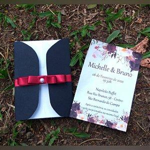 Convites De Casamento Aba Redonda