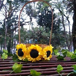 Cesta para Florista Girassol