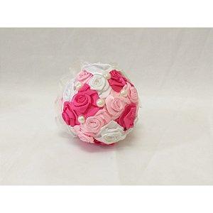 Buquê Rosinha Pequeno Pink , Rosa Claro e Branco