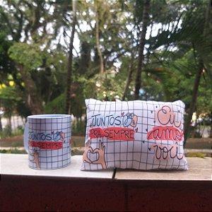 Kit Caneca + Almofada / Juntos para Sempre