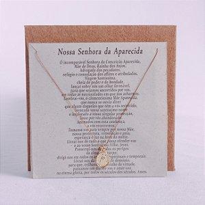 Cordão e Medalha Nossa Senhora Aparecida com oração