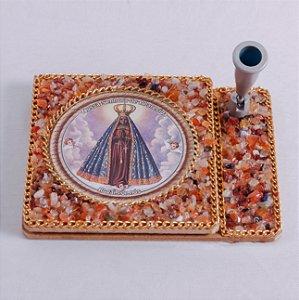 Bloquinho de anotações com caneta Nossa Senhora Aparecida