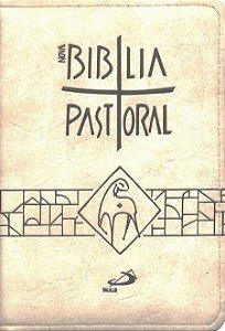 Nova Bíblia Pastoral - Média - Zíper Creme