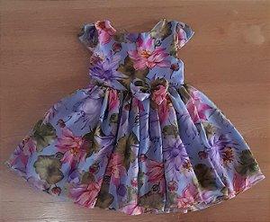 Vestido Infantil Violeta Floral