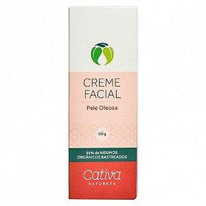 Creme Hidratante Facial Pele Oleosa - Cativa 60ml