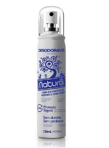 Desodorante Spray Pepino e Chá Verde - Orgânico Natural 120ml