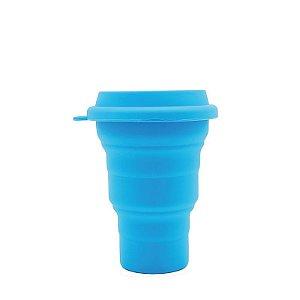 Copo de silicone retrátil com tampa 400 ml