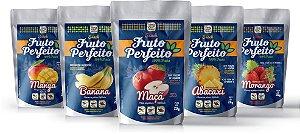 Kit Snacks Liofilizados - Abacaxi, Banana, Manga, Maçã e Morango (5 pacotes de 20g cada)