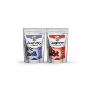 Kit Double Berry - Blueberry e Cranberry  (1 pacote de 100g e 1 pacote de 200g)