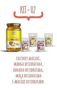 Kit Promocional 2 - Kit Snacks Desidratados (Abacaxi, Banana, Manga e Maça) e Chutney Abacaxi