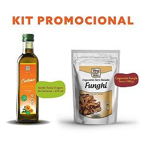 Kit - Promocional - Cogumelo Funghi Seco (100g) e Azeite Extra Virgem de Cártamo - 250 ml