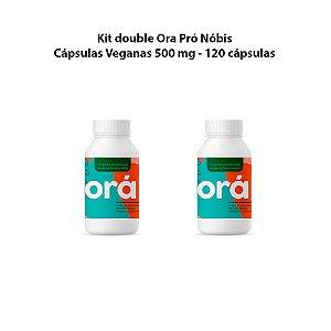 Kit double Ora Pró Nóbis - Cápsulas Veganas 500 mg - 120 capsulas