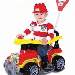 Carrinho de passeio Jipe bombeiro