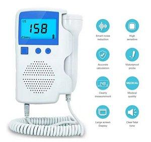 Sonar Fetal Doppler Ultrassom Portátil Digital - Azul