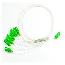 SPLITTER PLC 1X8 1310/1490/1550nm 0,9mm, comprimento 70cm com conector SC/APC