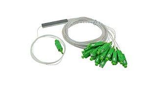 SPLITTER plc 0,9mm com conector Sc/apc 1x16 0,70 cm