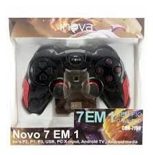 CONTROLE INOVA 7 EM 1(P2,P1,P3,USB,PC,ANDROID TV, ANDROID MEDIA)  CON-7190