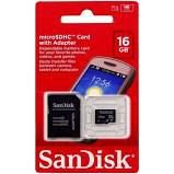 CARTÃO MICRO SD 16GB SANDISK