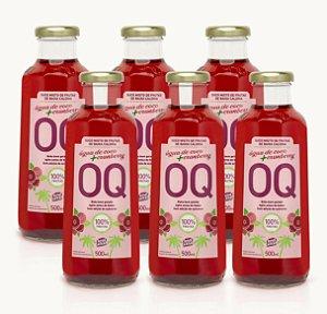 Suco Misto de Frutas de Baixa Caloria OQ | Água de Coco + Cranberry| 500ml | Caixa 6 Garrafas