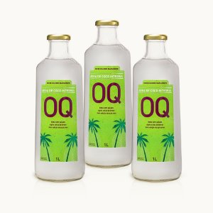 ÁGUA DE COCO INTEGRAL OQ | 1litro | Caixa 3 Garrafas