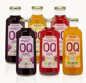 Água de Coco + Frutas OQ | Uva | Cranberry | Maracujá | 500ml | Caixa 6 Garrafas