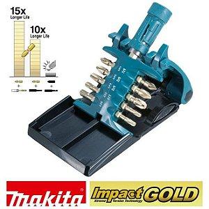 Kit de Bits de Torção Impact Gold Makita com 11 peças