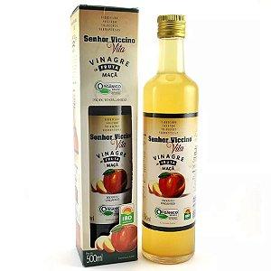 Vinagre de Maça Orgânico 500ml embalagem de vidro - Sr. Viccino