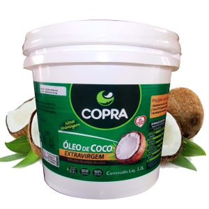Óleo De Coco Extra Virgem Copra Balde 3,2L