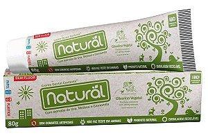 Creme Dental Contente Natural com ingredientes orgânicos e SEM FLÚOR 80g.