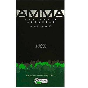 Chocolate Orgânico AMMA Especial -100% Cacau 80g