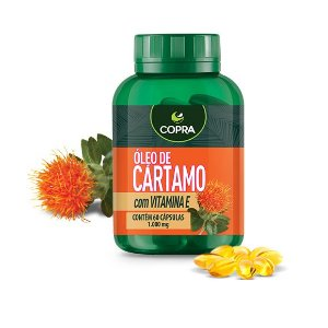 Óleo de Cártamo + Vitamina E - 60 Cáps (1000mg) COPRA