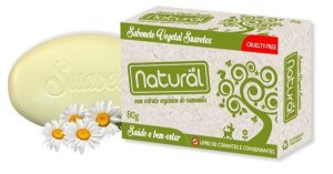 Sabonete Natural Suavetex com Extrato Orgânico de Camomila 80g.