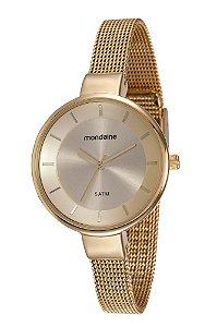 63ce2a4f87e3c Relógio Mondaine Feminino em Aço na cor Dourada com Detalhes Pretos ...