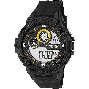 8109de7067e32 Relógio Mormaii Masculino Adulto de Pulso Digital com Detalhes em Amarelo