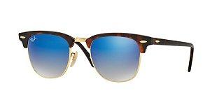 aa251836b4834 Óculos de Sol Ray-ban Clubmaster Tartaruga - Turtle - Flash Lenses - Lentes  Espelhadas