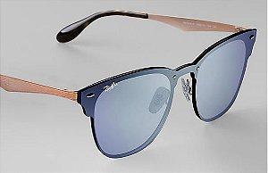 823015976659b Óculos de Sol Ray-ban Blaze Azul - Lilás Espelhado Estilo Máscara