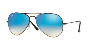 Óculos de Sol Ray-ban Aviador - Aviator Gradiente Espelhado - Piloto - Preto  com 8ba5e3bfb4