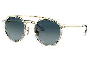 c5e1ecc94558e Óculos de Sol Ray-ban Round Double Bridge Redondo Degradê RB3647-N 9123-  zoom