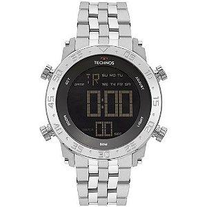 eb6584e44db66 Relógio Masculino Technos Digital em Aço com Luz e Resistente à Água -  BJK006AB1P