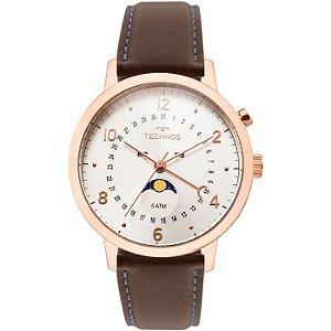 488ab5871ab2f Relógio Technos Classic Golf Masculino Bronze-rosé com Calendário Mensal